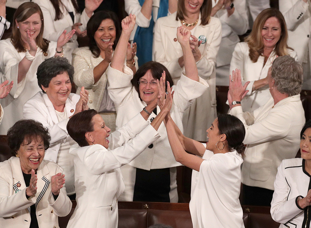 female candidates wear white at the State of the Union